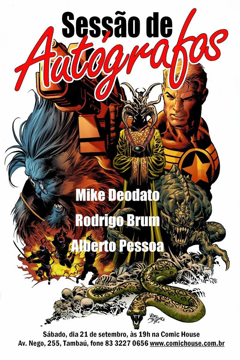 Reinado Sombrio, A Arte Cartum & SketchBook, de Mike Deodato - Sessão de Autógrafos na Comic House ~ Comic House