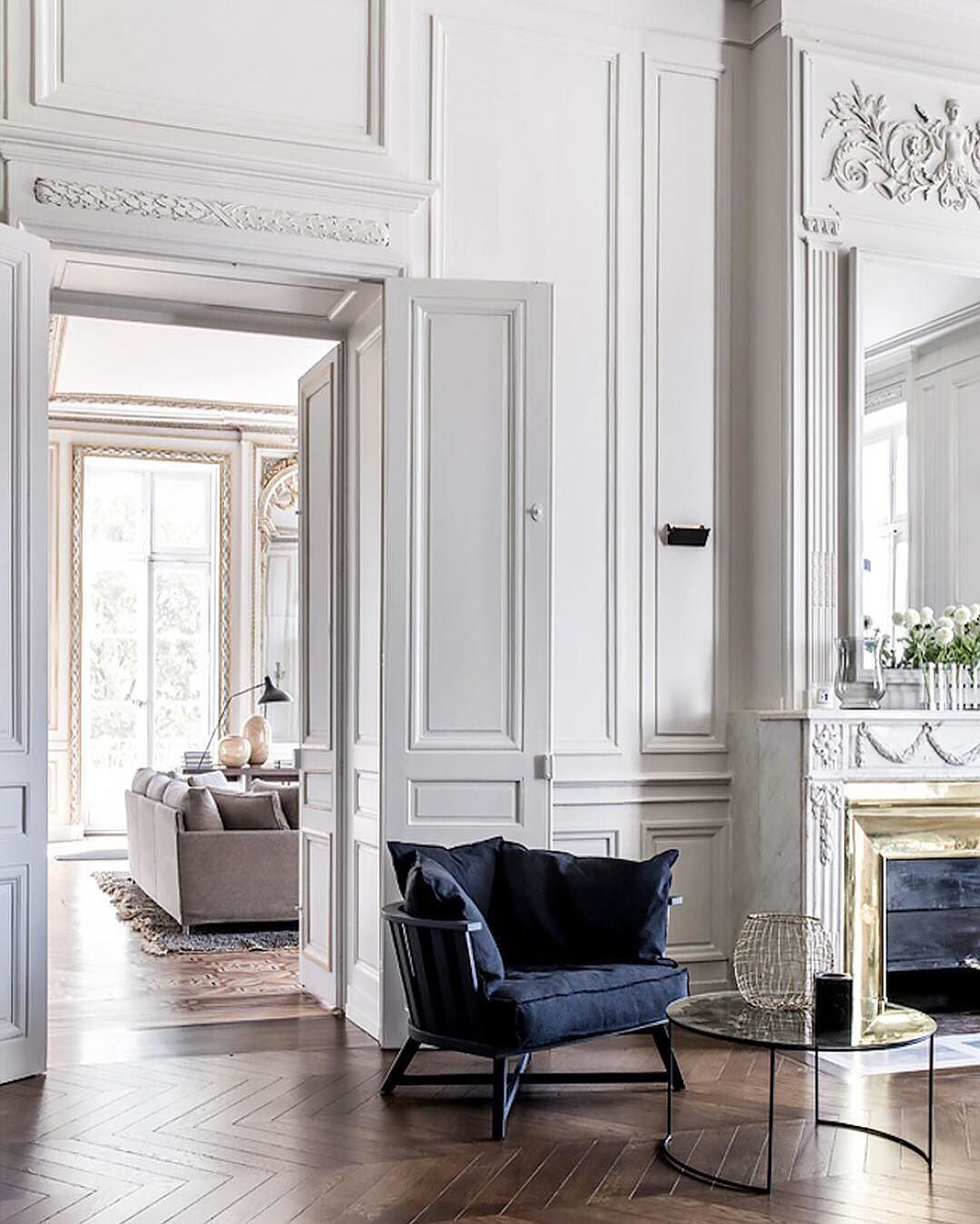 Paris apartment interiors 222 stili di casa for Siti design interni