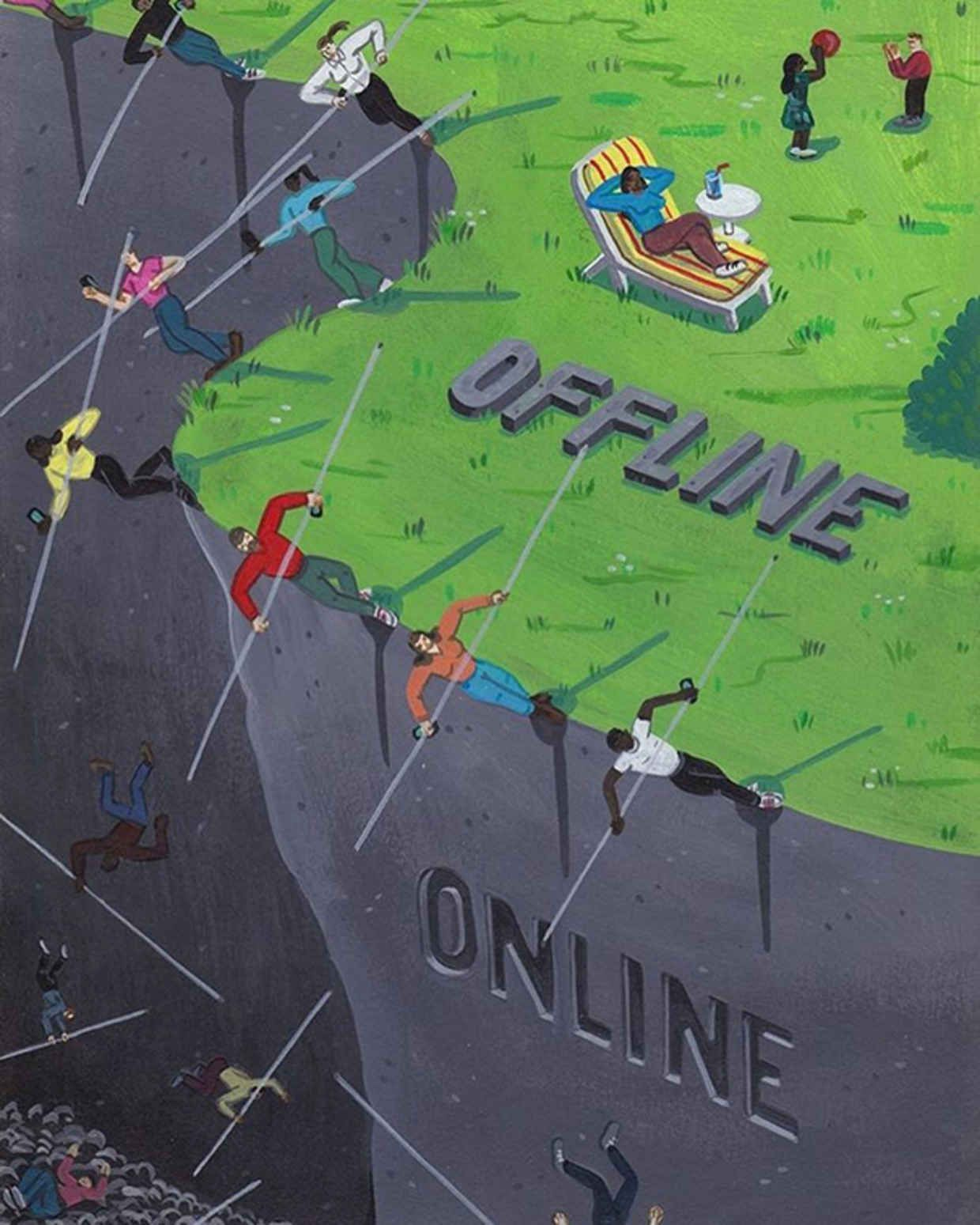 Belgian illustrator Brecht Vandenbroucke uses his Instagram account to share some brilliant satirical illustrations that show how addicted we are to social media. His drawings deliver a pretty harsh message, yet still come across as quite playful - almost as if they're from a children's book. Some of them aren't obvious to get at first, so let us know in the comments if there's any you can't get your head around.Don't miss out on UltraLinx-related content straight to your emails. Subscribe…