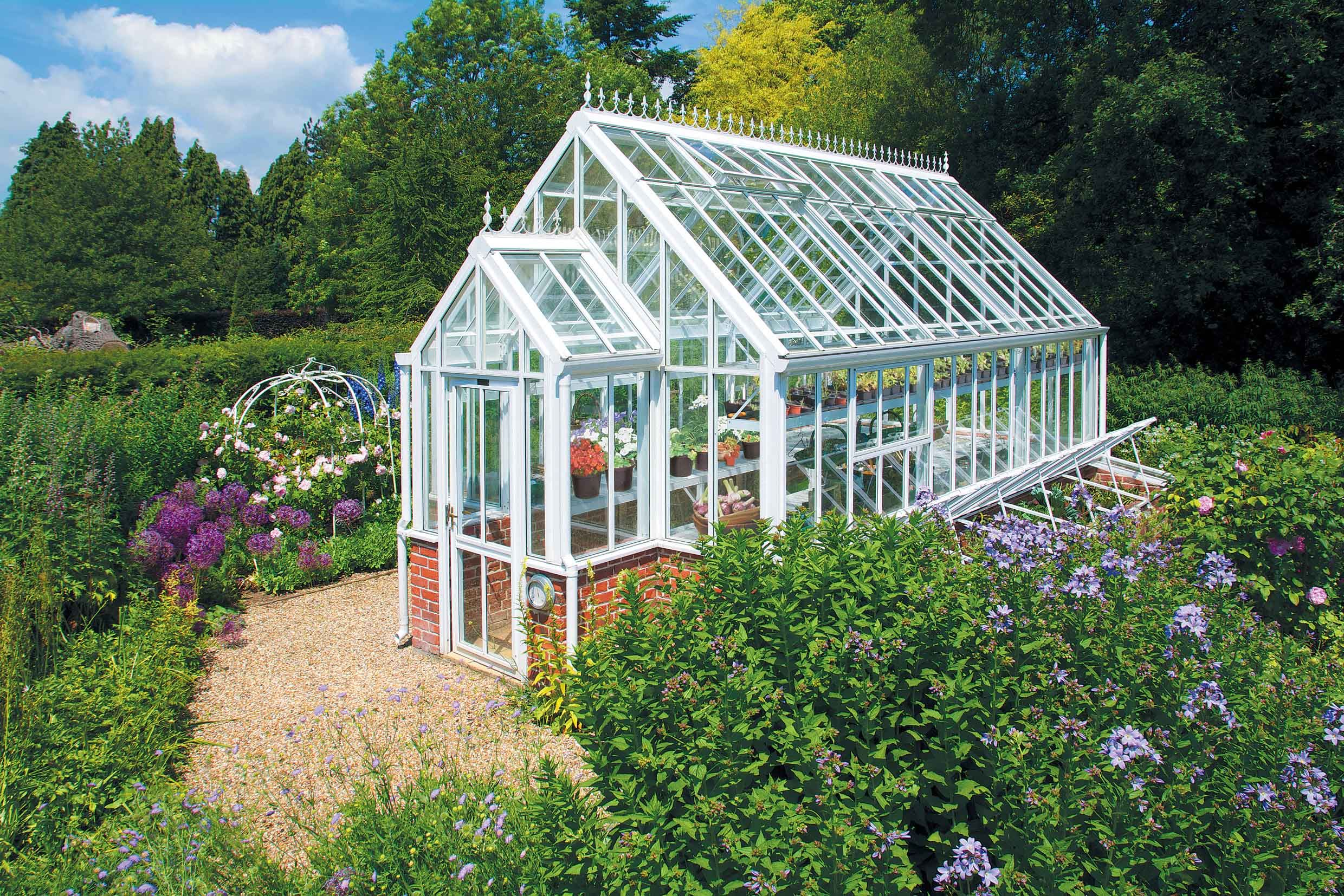 Bespoke Glasshouse with porch in one end