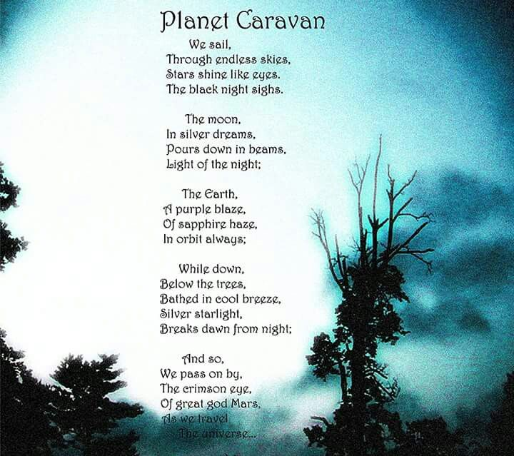 Planet Caravan Lyrics With Images Black Sabbath Lyrics Black
