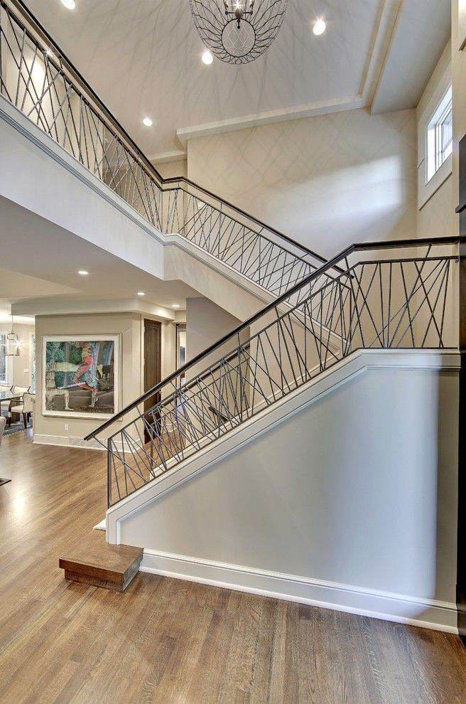 Captivating Design For Modern Home With Stair Railing Ideas Beautiful Interior Wood Flooring