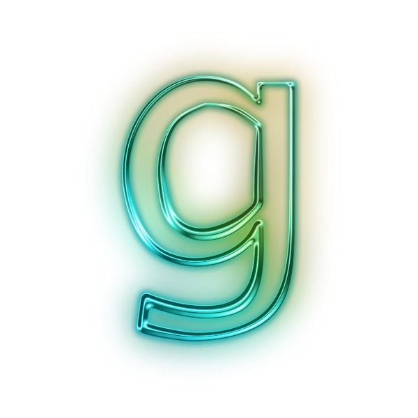 Download Free Letter G Glowing Green Neon Icon Icons Etc ❤ liked