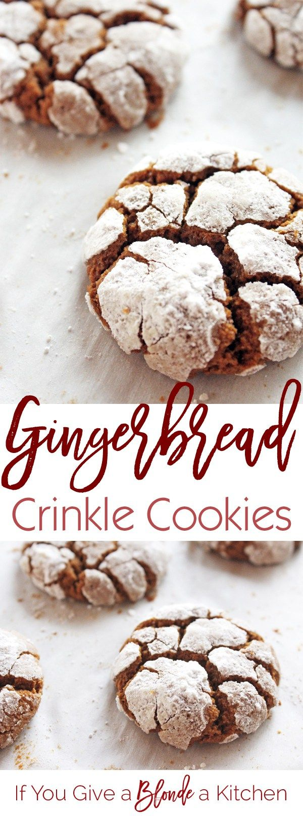 Photo of Gingerbread Crinkle Cookies   If You Give a Blonde a Kitchen