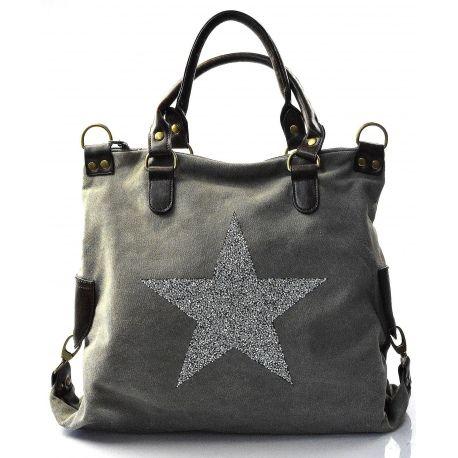 štýlová moderná sivá taška cez rameno military two  97d8fad154