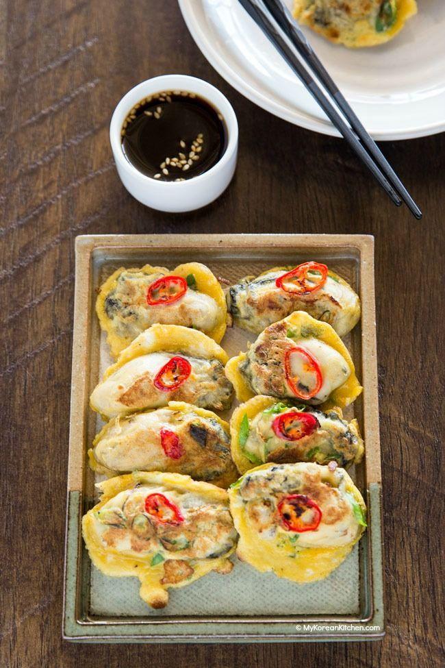 Korean oyster pancakes gul jeon recipe korean food recipes oyster pancake recipe httpmykoreankitchen forumfinder Choice Image