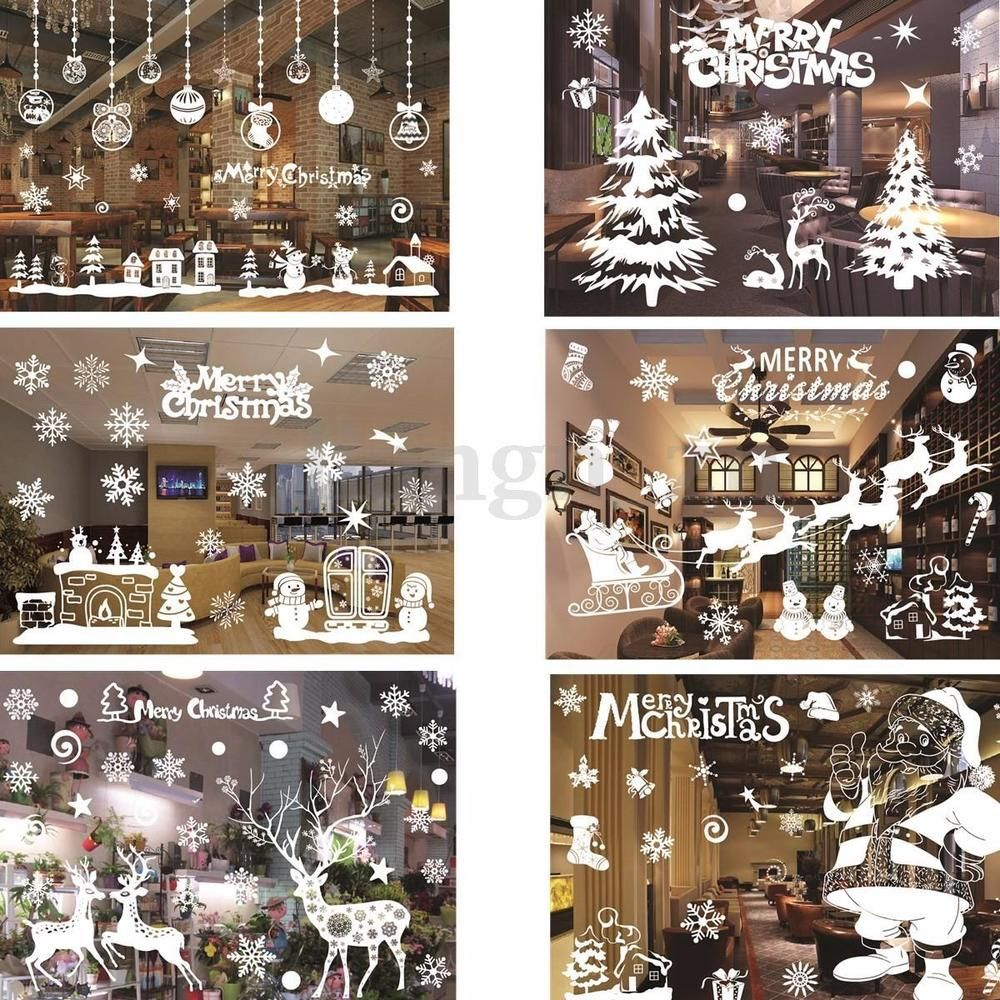 Stickers fenetre deco noel