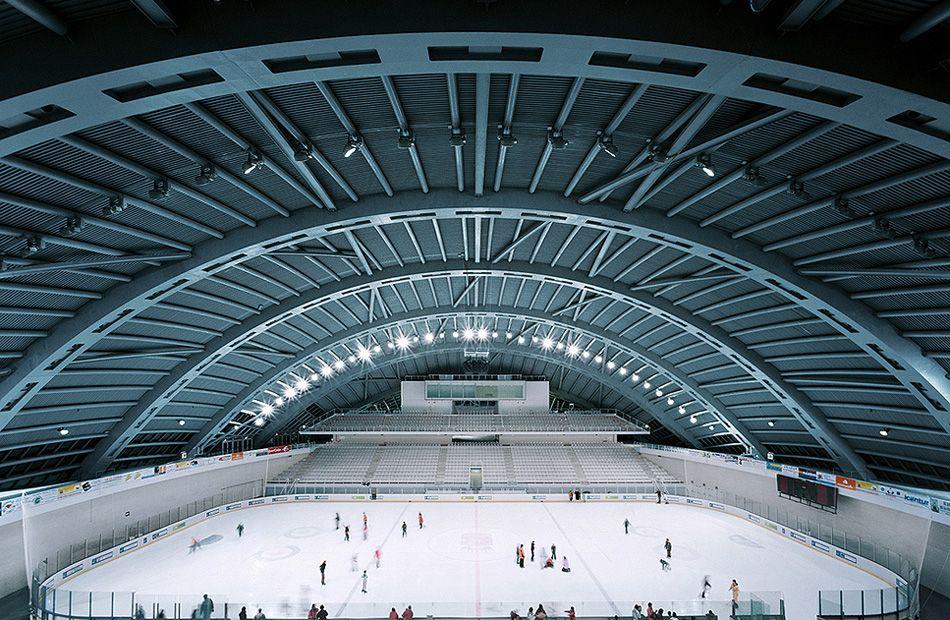 City Of Jaca Hockey Arena Coll Barreu Arquitectos Hockey Arena Hockey Architecture Photography