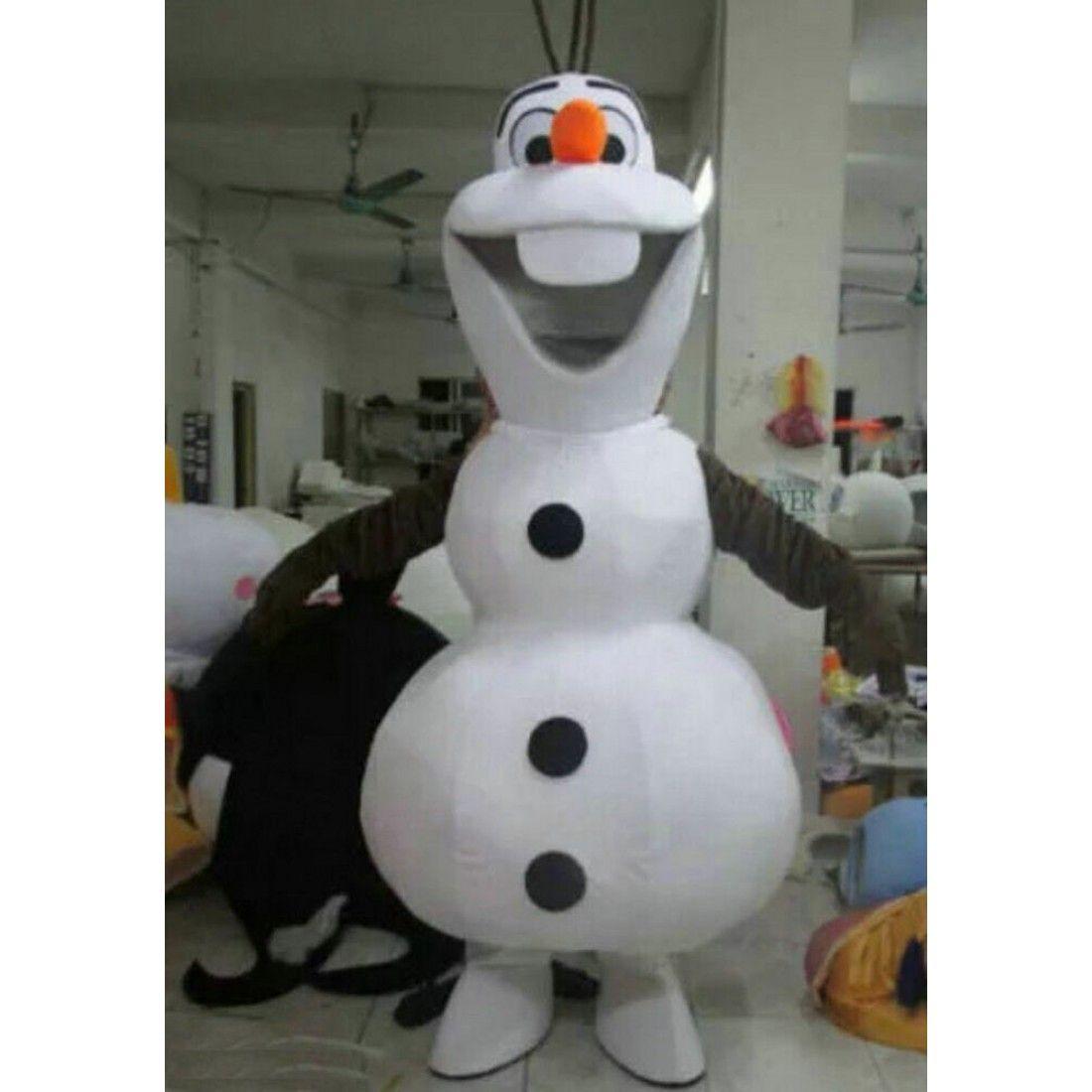 Adult Mascot Olaf Snowman Frozen Cartoon Fancy Dress Costume Christmas Party