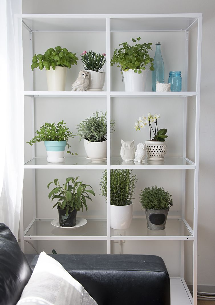 Small Space Herb Garden Vittsjo Shelving Unit From Ikea