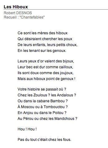 Poésie Les Hiboux Robert Desnos : poésie, hiboux, robert, desnos, Hiboux