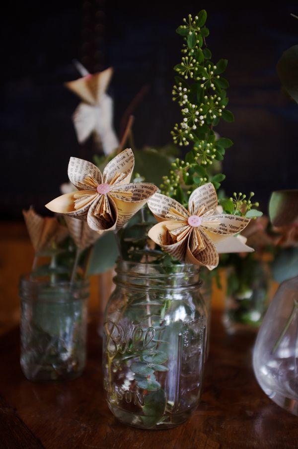 Just Peachy Elegant Indian Wells Wedding Paper Flowers Wedding