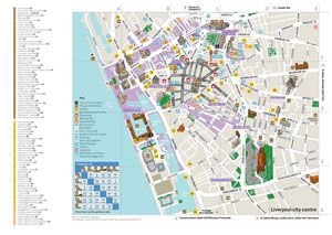 Map of Liverpool City Centre Liverpool Attractions Map Liverpool