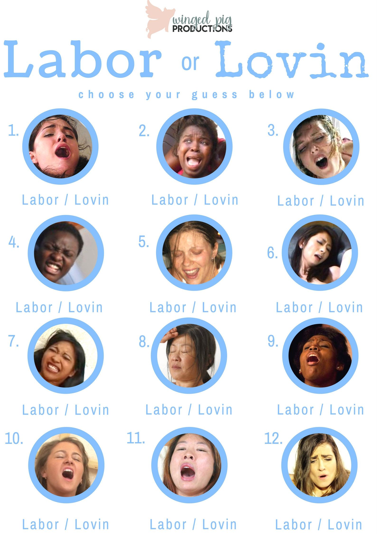 Labor Or Lovin Blue Font Baby Shower Game By -1999