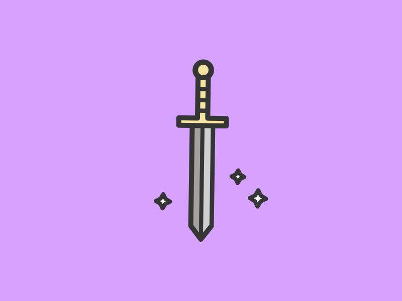 Sword Icon Icon Icon Design Illustration Design