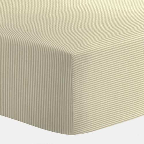 Baldwin Buff Stripe Crib Sheets | Carousel Designs 500x500 image
