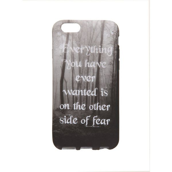 Other Side Of Fear iPhone 6 Case Hot Topic ($7.60) ❤ liked on Polyvore featuring accessories and tech accessories