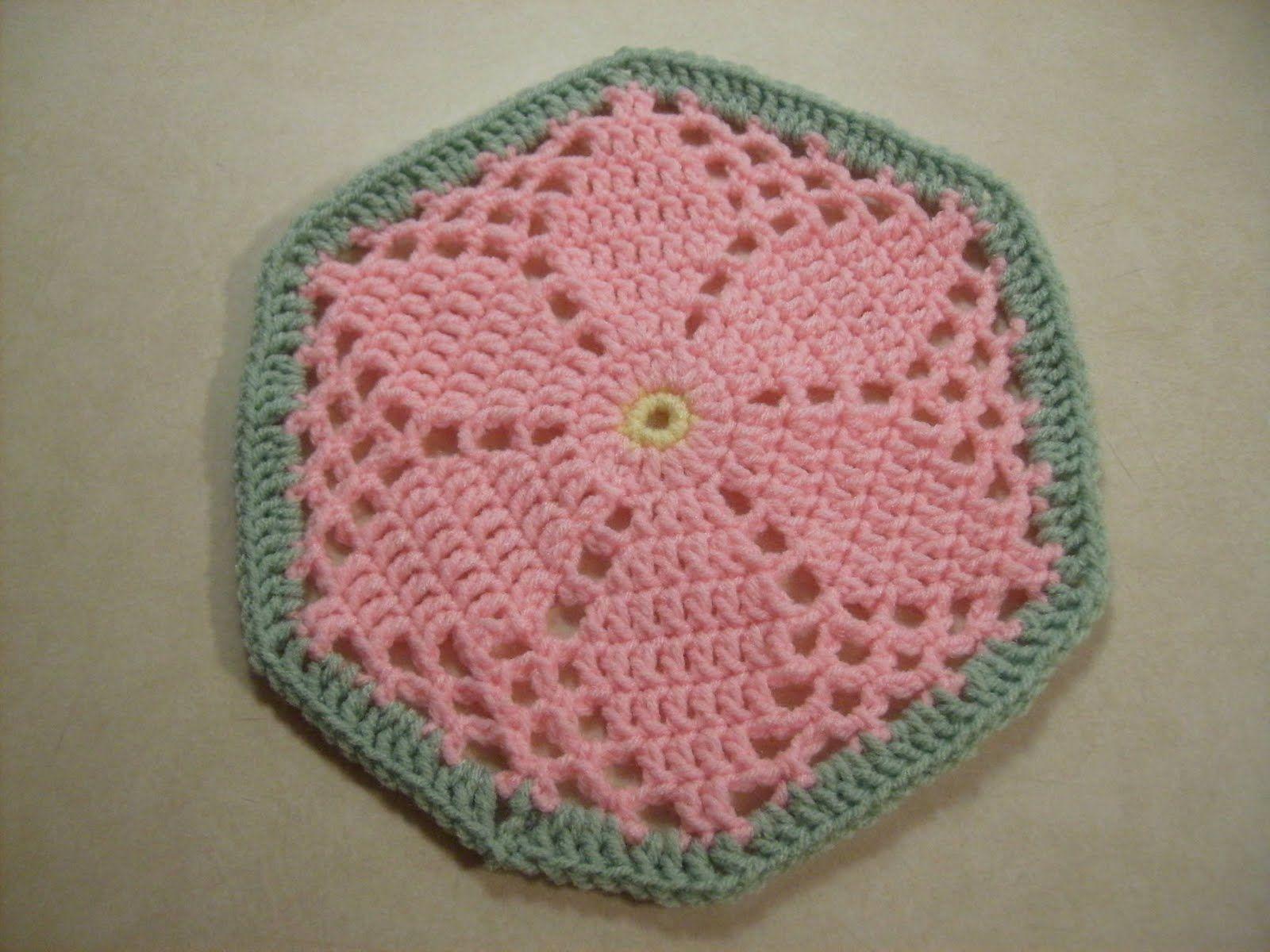 Scrap Yarn Crochet: Free Granny\'s Garden Hexagon Crochet Pattern ...