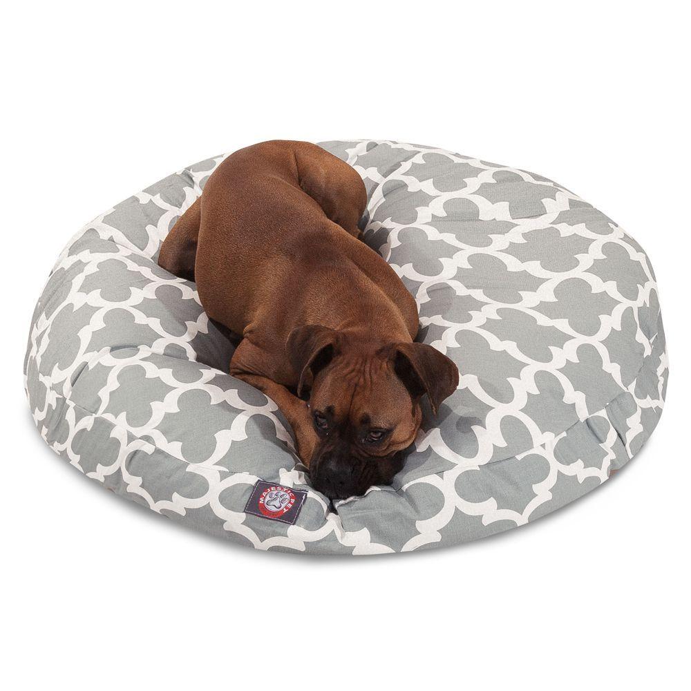 Majestic Pet Trellis Round Dog Bed In 2021 Round Dog Bed Fabric Dog Beds Majestic Pet