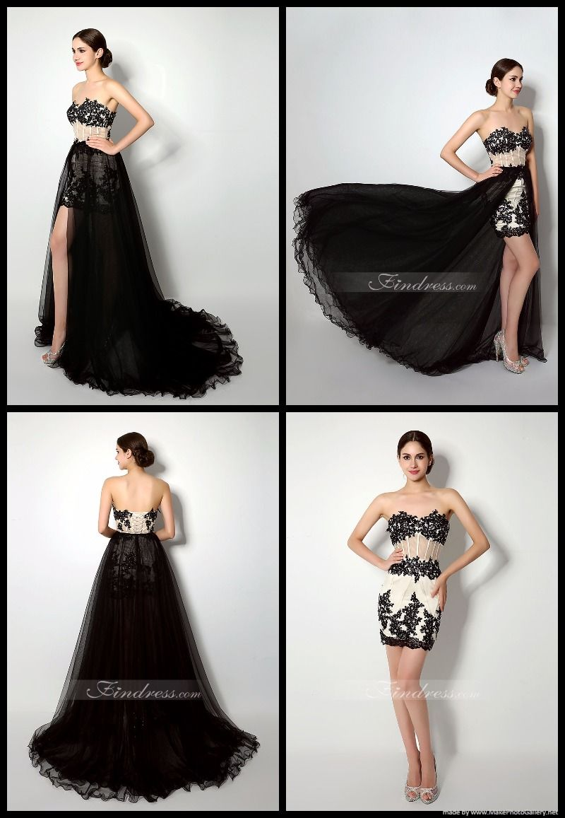 Sheath detachable court train satin and tulle evening dress with
