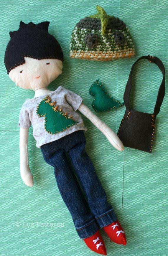 Sewing Doll Patterns sewing doll boy pattern stuffed toy pattern ...
