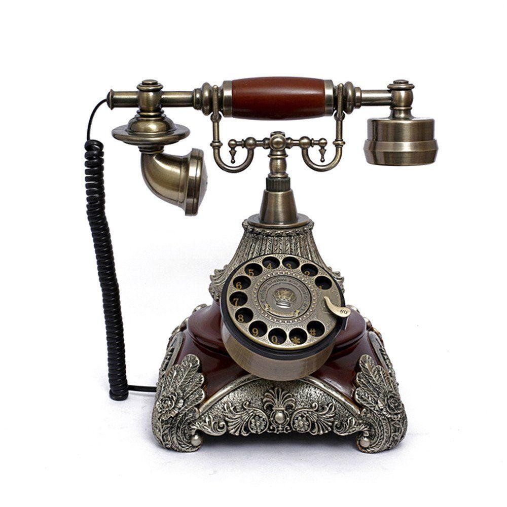 LNC Retro Vintage Antique Style Rotary Dial Desk Telephone Phone Home  Living Room Decor - LNC Retro Vintage Antique Style Rotary Dial Desk Telephone Phone