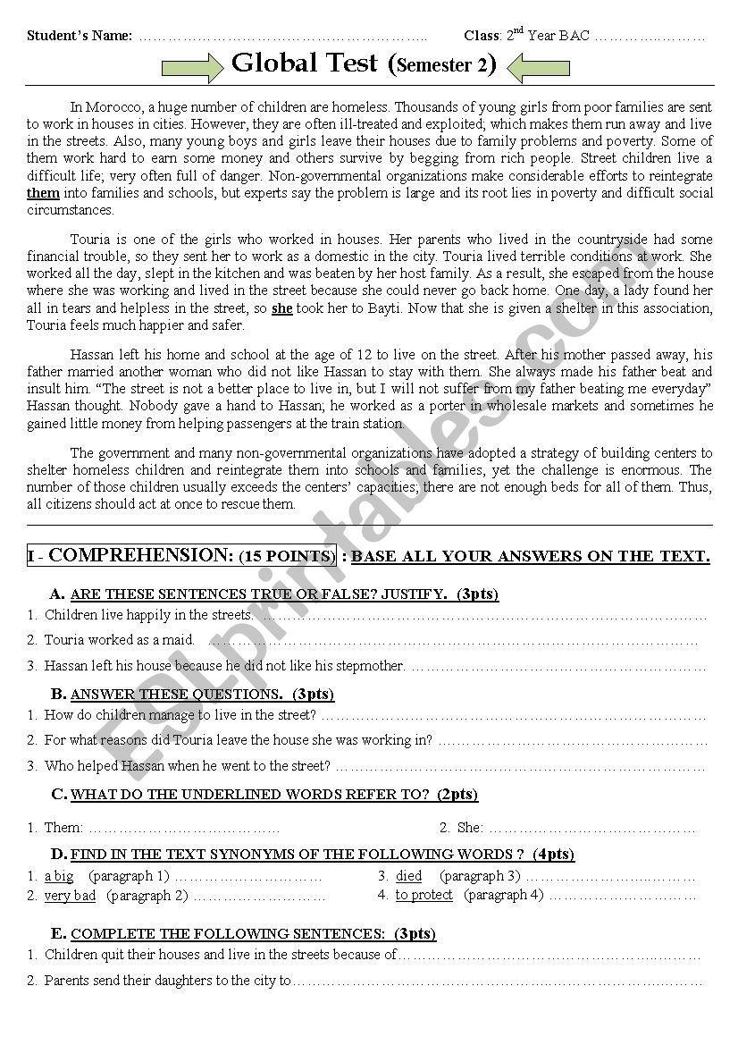 writing in english 2 bac pdf