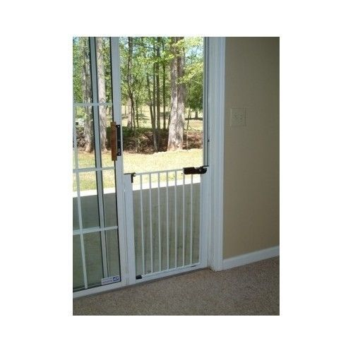 Baby Gates For Sliding Glass Door Patio Safety Gliding Dog Pet White