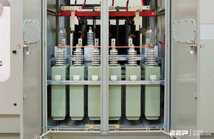 Medium Voltage Capacitor Banks Electrical Panel Wiring Locker Storage Electrical Panel