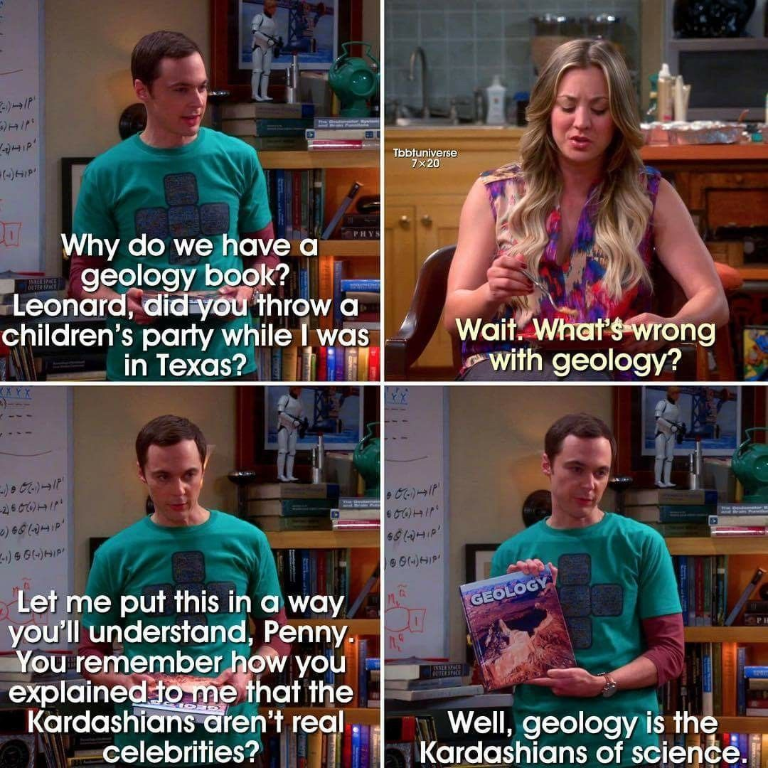 Image result for geology big band theory