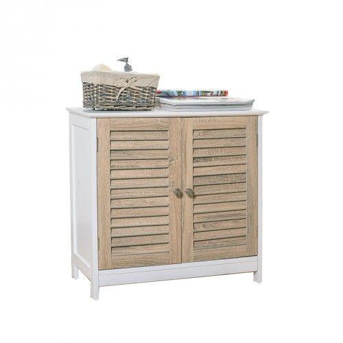 CAJA 2 Door Low Cabinet (White) | Bathroom Furniture | JYSK Canada