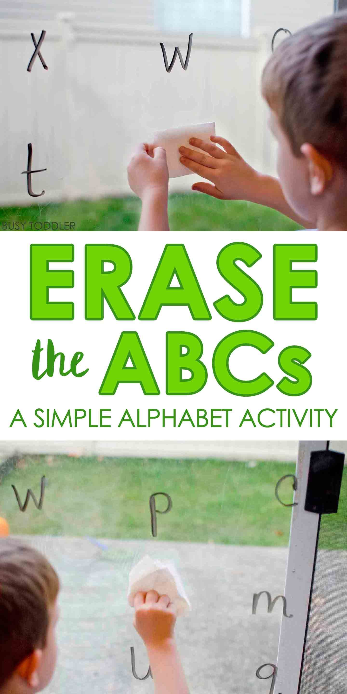 Erase the ABCs: Easy Alphabet Activity | || BUSY TODDLER ...