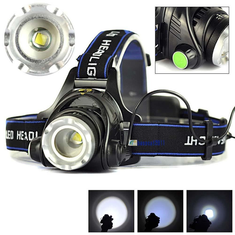 Battery UK 5000LM 3x CREE XM-L T6 LED Headlight Light Headlamp Flashlight Lamp