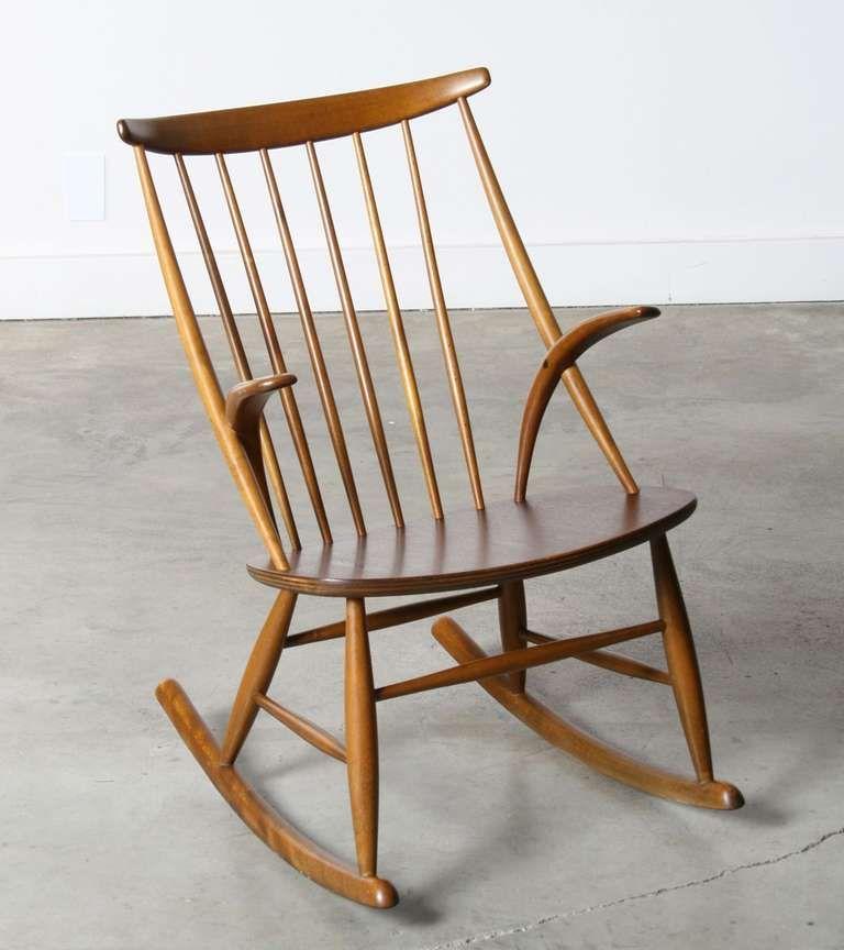 Genial Danish Rocking Chair By Illum Wikkelso, 1958 Image 2