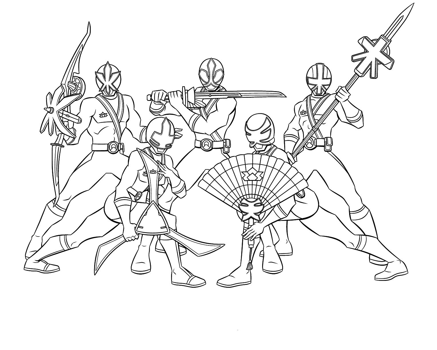 Team Power Ranger Samurai Coloring Pages | For Henry | Pinterest ...