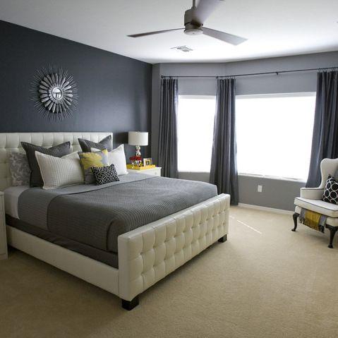 die besten 25 dunkelgraue schlafzimmer ideen auf pinterest graues schlafzimmer graue feature. Black Bedroom Furniture Sets. Home Design Ideas