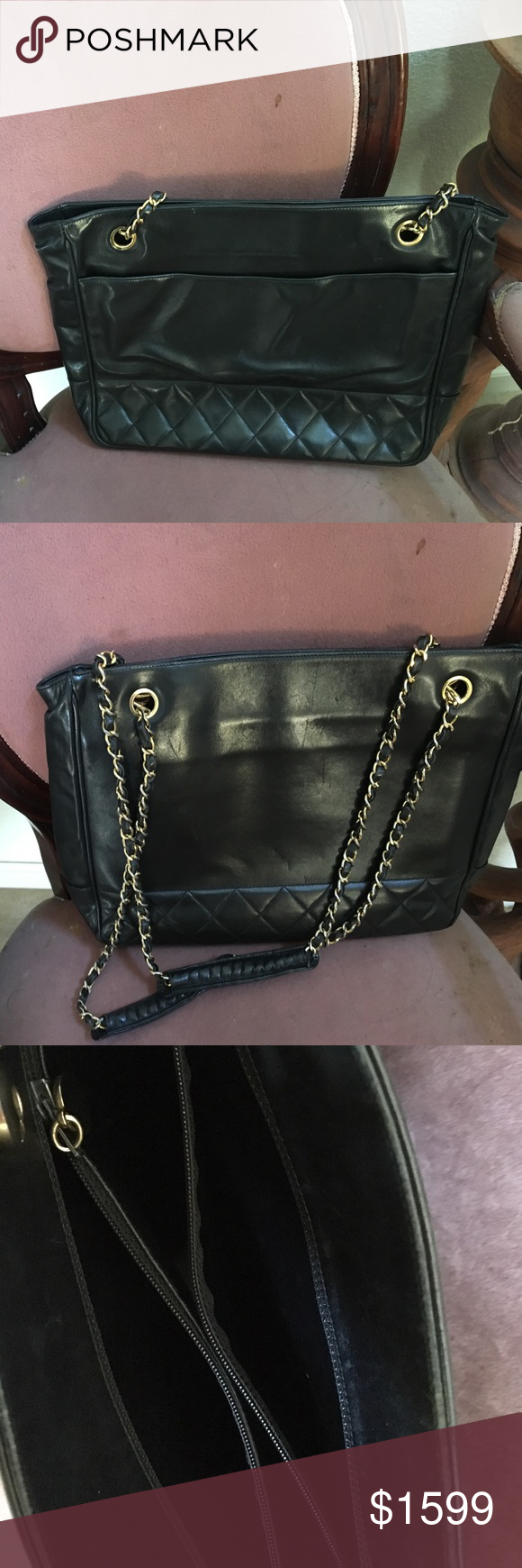 0c817625b990 Authentic Chanel tote Need to let go this beauty only because it is little  small for