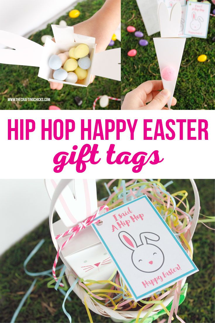 Hip hop happy easter gift tags pinterest happy easter easter give your friends a fun easter treat and attach one of these adorable hip hop happy easter gift tags via craftingchicks negle Image collections