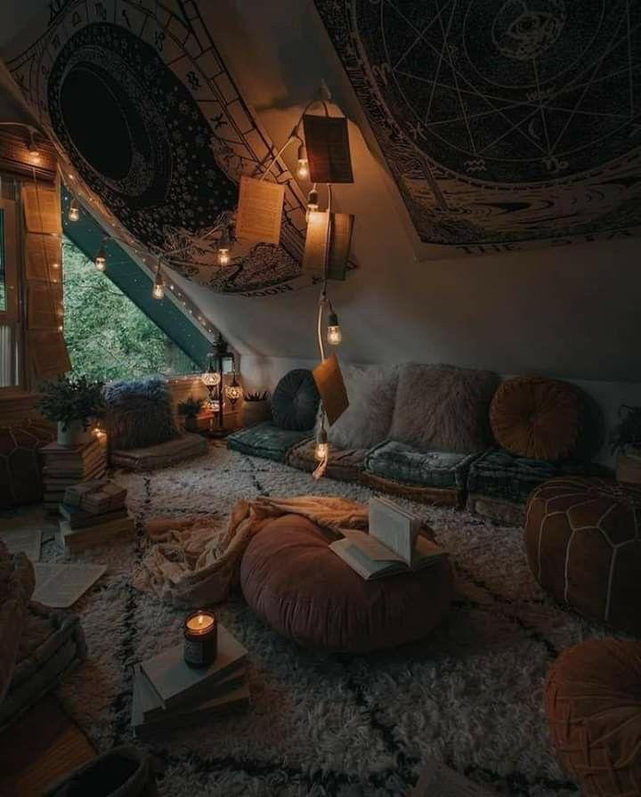 Dark corner   Dream rooms, Aesthetic rooms, Bohemian home