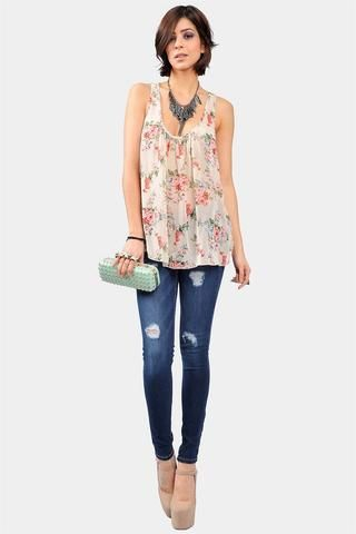 Maisie Floral Tank - Necessary Clothing
