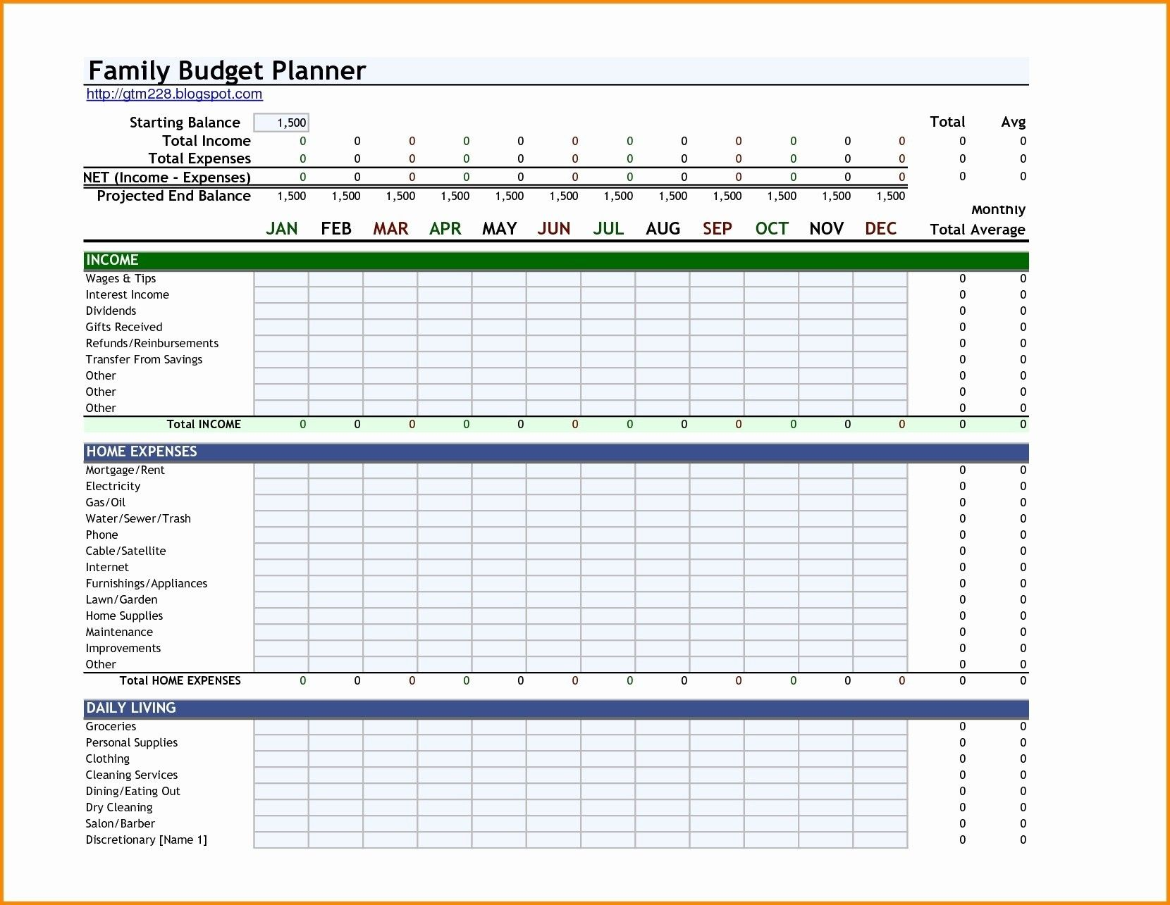 New Daily Expenses Excel Template