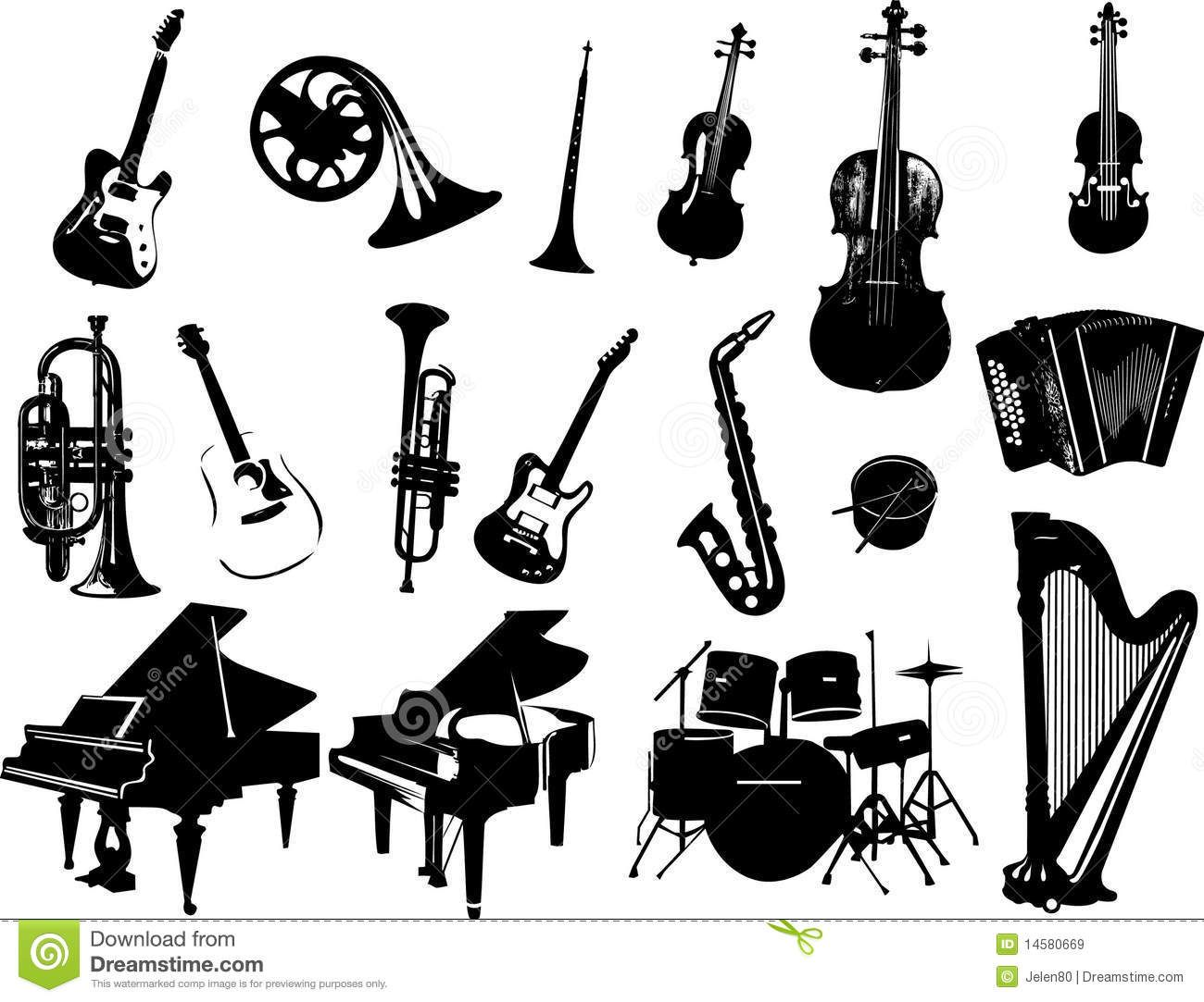 Pingl par etienne establie sur instruments musique instruments et musique - Image instrument de musique a colorier ...