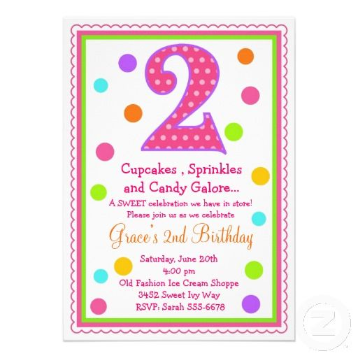 Sweet Surprise 2nd Birthday Invitation