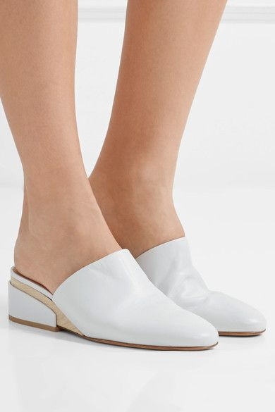 Wedge Heel Measures Approximately Mm  Inches OffWhite Leather