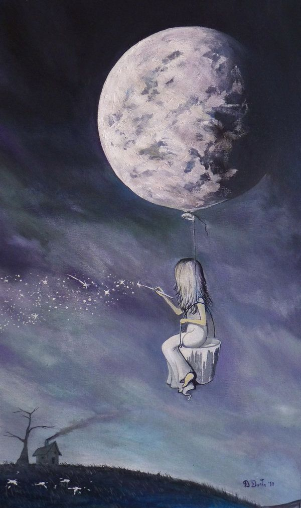 'Paint The Sky With Stars' , Adrian Borda - (the moon on a string)