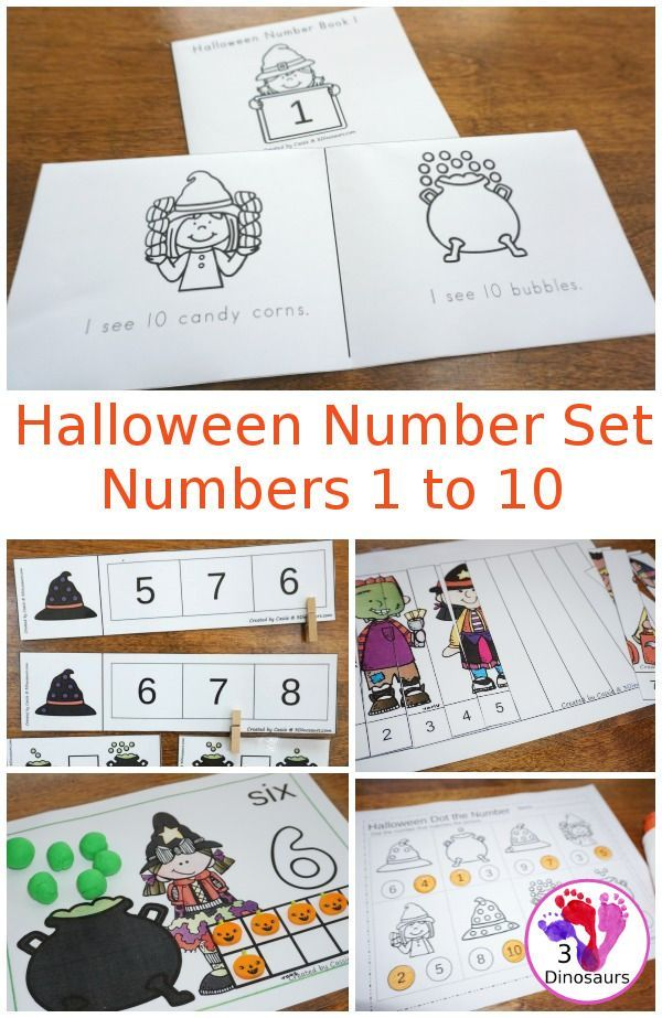 Halloween Number Set: Numbers 1 to 10 - easy reader books, hands-on ...
