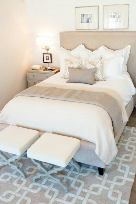 Beige Cream And White Color Scheme Redecorate Bedroom Bedroom Decor On A Budget Master Bedrooms Decor