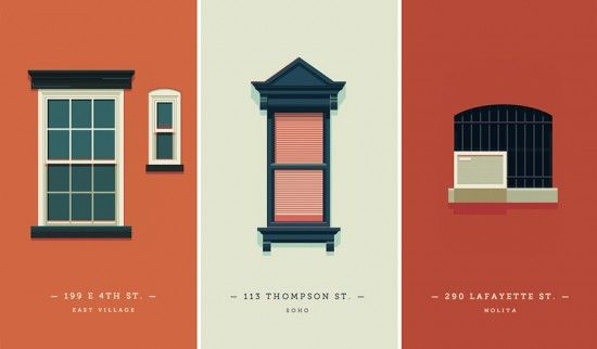 Graphic designer documenting the Windows of New York with beautifully simple drawings