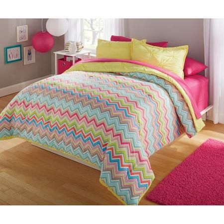 Your Zone Bright Chevron Bed In A Bag Bedding Set Kids