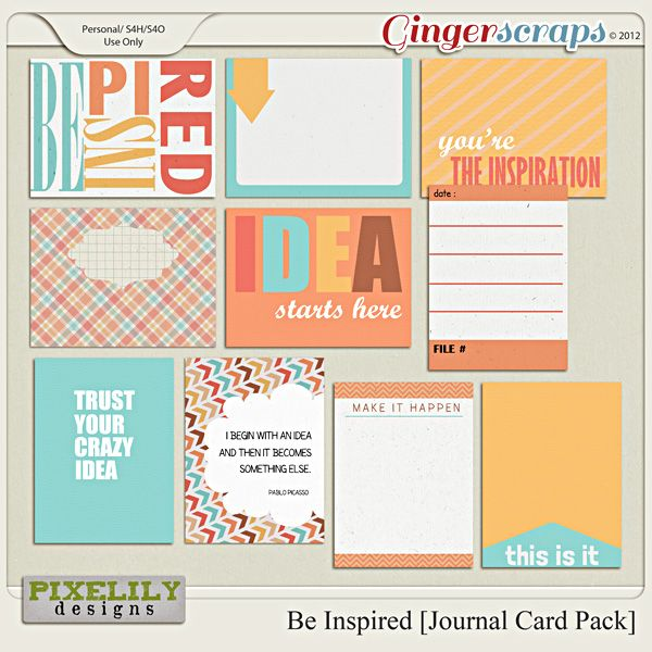 Be Inspired [Journal Card Pack]